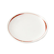 "Plate with Red Lining 6 1/4"" dia"