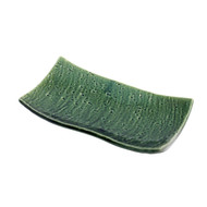 """Textured Moss Green Plate 7 7/8"""" x 4 1/8"""""""