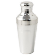15% Off with code MTCBARWARE15 - Yukiwa Matte Silver-Plated Baron 3-Piece Cocktail Shaker with Round Cap 410ml (13.8 oz)