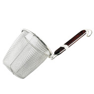 "Ramen Basket Strainer with Flat Bottom (5 1/8"" Deep)"
