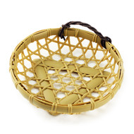 "Washable Round Faux Bamboo Basket 7 1/8"" dia"