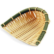 "Washable Faux Bamboo Basket 5 1/2"" x 5 7/8"""