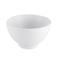 "Lined White Noodle Bowl 6 1/2"" dia"
