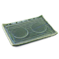 """[Clearance] Glossy Green Plate 12"""" x 8 1/2"""""""