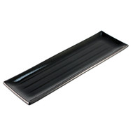 "Tenmoku Glazed Rectangular Black Plate 15 1/2"" x 4 3/4"""