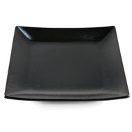 "Tenmoku Glazed Square Black Plate 12 1/4"" x 12 1/4"""
