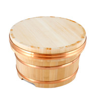 "Wooden Edobitsu Sushi Rice Holder 9 1/2"" dia"