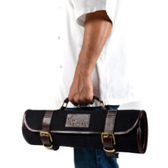 Boldric Black Canvas Roll Knife Bag