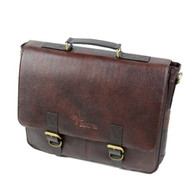 Boldric Brown Leather Messenger Knife Bag