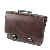 Boldric Brown Leather Messenger Knife Bag