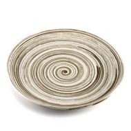 """Gray Swirl Plate 11 3/4"""" dia"""