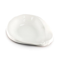 "[Clearance] White Asymmetrical Plate 7 7/8"" x 6 1/4"""