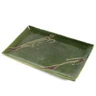 "Rectangular Moss Green Plate 13 3/8"" x 9 1/4"""
