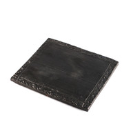 "Rectangular Black Plate 8.5"" x 7.5"""