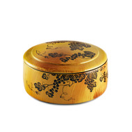 "Grape Motif Chirashi Sushi Box 6 1/4"" dia"