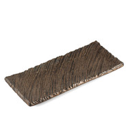 "Kinkessho Bronze Textured Rectangular Plate 13"" x 5.7"""