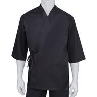Chef Works® Unisex Happi Sushi Chef Coat, Serving Short Kimono, Black L/XL