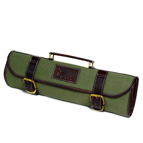 Boldric Green Canvas Roll Knife Bag - MTC Kitchen