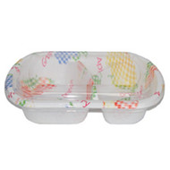 "[Clearance] 2 Compartments Take Out Food Tray Fruit Pattern BF-172 7 1/4"" x 5"" (50/pack)"