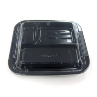 """[Clearance] 3 Compartments Take Out Food Tray for Lunch Box 9"""" x 7.5"""" x 1.5""""h (50/pack)"""