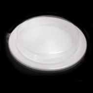 "[Clearance] White Take Out Round Tray 10 1/4"" dia (50/pack)"