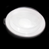 "[Clearance] White Take Out Tray Deep Plate 8 1/2"" dia (50/pack)"