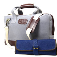 Boldric Grey Canvas Mixology Bag Set