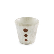 Dot White Ceramic Shochu Cup