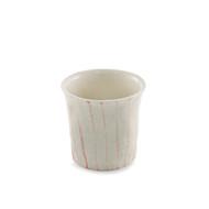 Pinstripe Ceramic Shochu Cup Handmade look