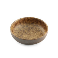"Textured Stew Bowl Earthy Brown Ceramic 6"" dia"