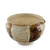 "Kokera Lipped Large Bowl with Japanese-style Mortar (Suribachi) 6 1/2""dia x 4 1/8""ht"