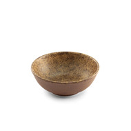 "Textured Small Bowl Earthy Brown Ceramic 4.5"" dia"