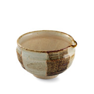 "Kokera Lipped Medium Bowl with Japanese-style Mortar (Suribachi) 5 3/8""dia x 3 1/4""ht"