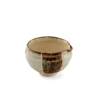 "Kokera Lipped Small Bowl with Japanese-style Mortar (Suribachi) 4 1/8""dia x 2 7/8""ht"
