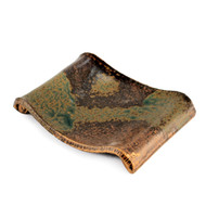 "Ash Glazed Curved Rectangular Plate 7 3/4"" x 6"""