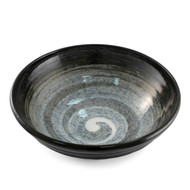 "Noodle Bowl with Grayish Swirls 9 1/4"" dia"