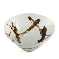 "15% off with code MTCRAMEN15 - Brown Brushstroke Noodle Bowl 7 5/8"" dia"