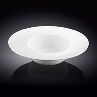 "Wilmax White Wide Rimmed Deep Plate 10"" dia"
