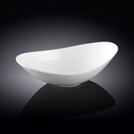"Wilmax White Oval Bowl 8"" w x 4 3/4"" d"