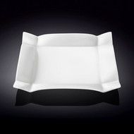 "Wilmax Deep Rimmed White Square Dinner Plate 10"" dia"