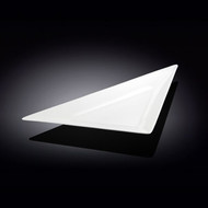 Wilmax White Triangular Plate 15.5""