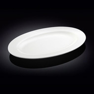 """Wilmax White Oval Dinner Plate 16"""" w"""