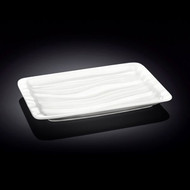 "Wilmax Rippled White Rectangular Plate 8.5"" x 5.5"""