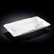 "Wilmax White Rectangular Divided Plate 10"" x 5.5"""