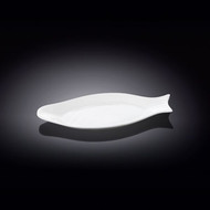 "Wilmax Fish Shaped White Plate 9.72"" x 4.88"""