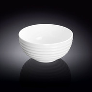 "Wilmax White Ridged Bowl 4.5"" dia (12 fl oz)"