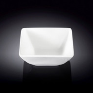 "Wilmax White Square Small Bowl 4"" x 3.75"""