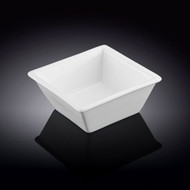"Wilmax White Square Bowl 4.25"" x 2""h"