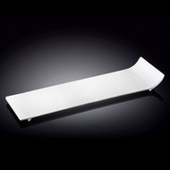 "Wilmax White Rectangular Plate with Side Lifted 12"" x 4"""