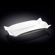 """Wilmax White Rimmed Rectangular Dinner Plate 12.52"""" x 5.75"""""""